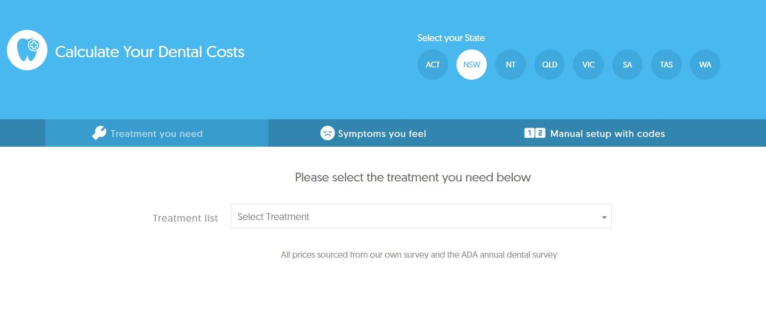 Dental Aware Dental Cost Calculator