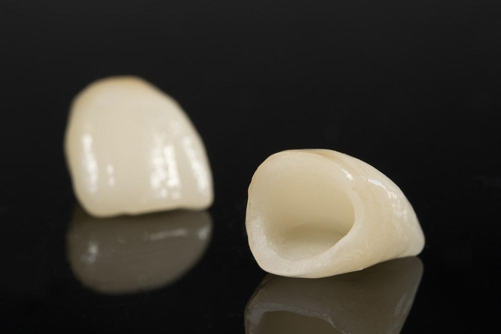 Dental Crowns on a black background