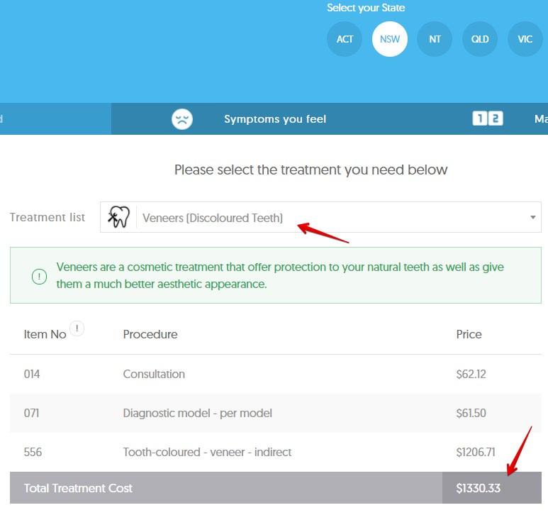 Dental veneer costs NSW dental aware calculator