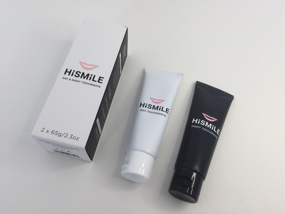 HiSmile Day and Night Toothpaste packaging