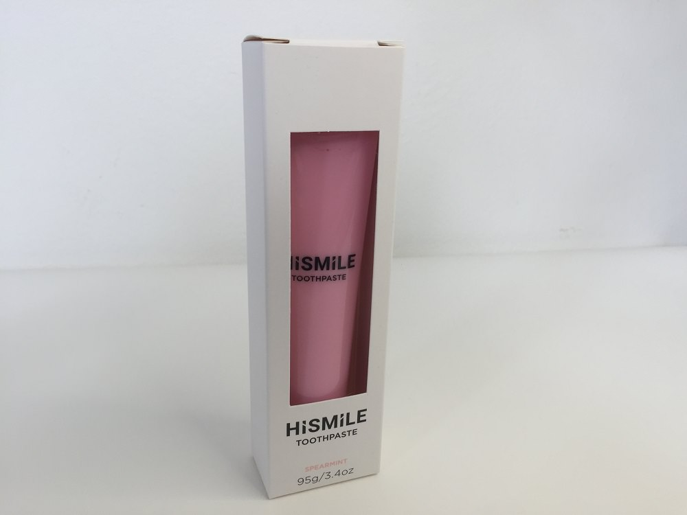 HiSmile Pink Toothpaste in its packaging