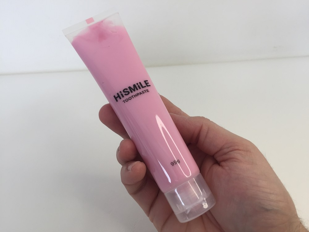 First impressions on HiSmiles Pink Toothpaste