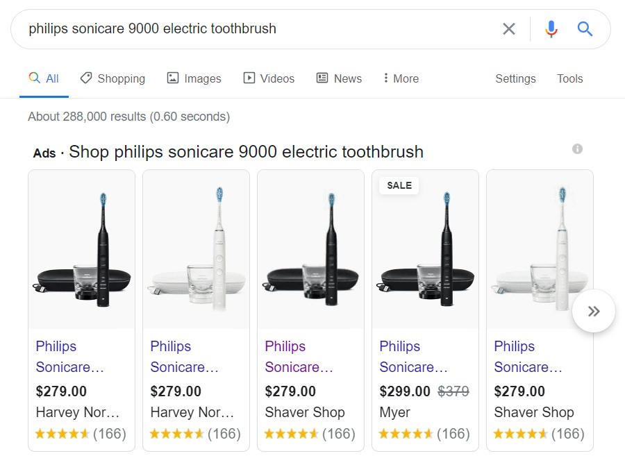 price comparsions of philip sonicare diamondclean 9000 electric toothbrush