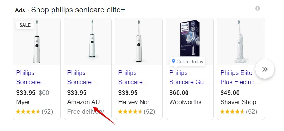 Philips Sonicare Elite+ buying options on google