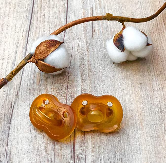 Sophie the giraffe Natural Rubber Pacifier for new borns