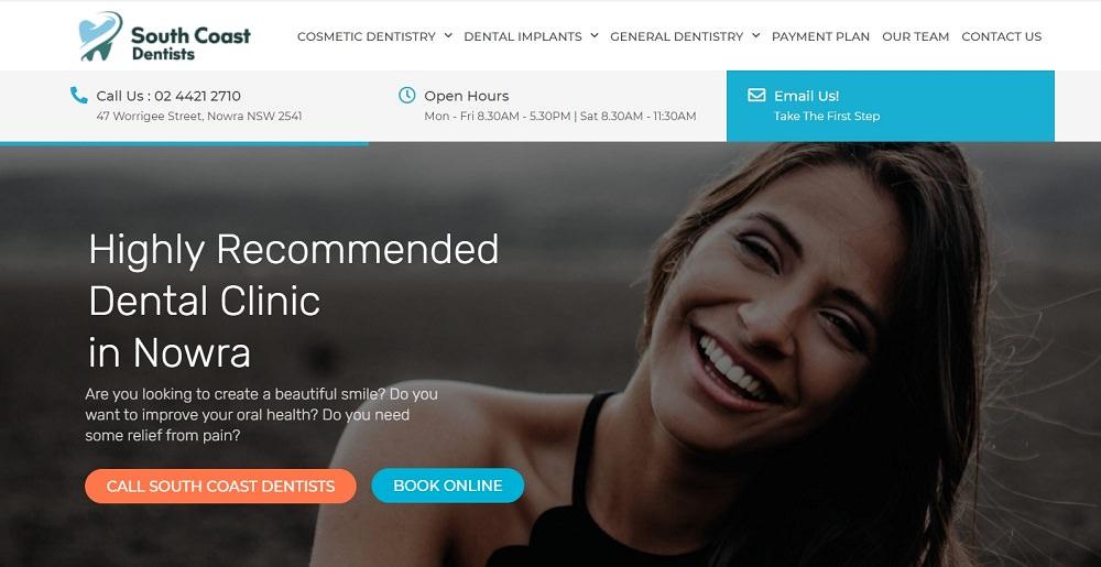 South coast dentists in nowra dental aware screenshot