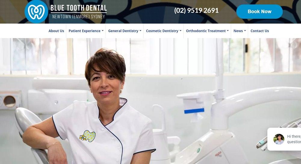 Blue Tooth Dental website scrreenshot