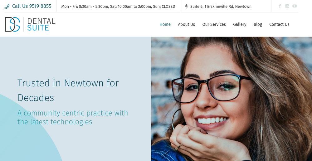 Dental Suite Newtown website screenshot