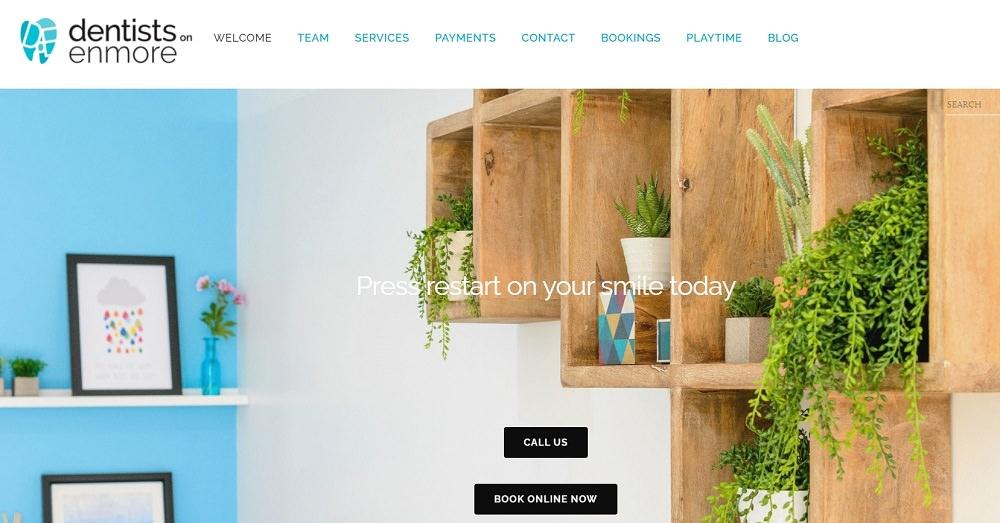 Dentists on Enmore website screenshot