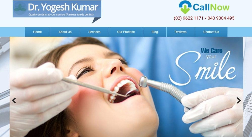 Dr Yogesh Kumar website screenshot
