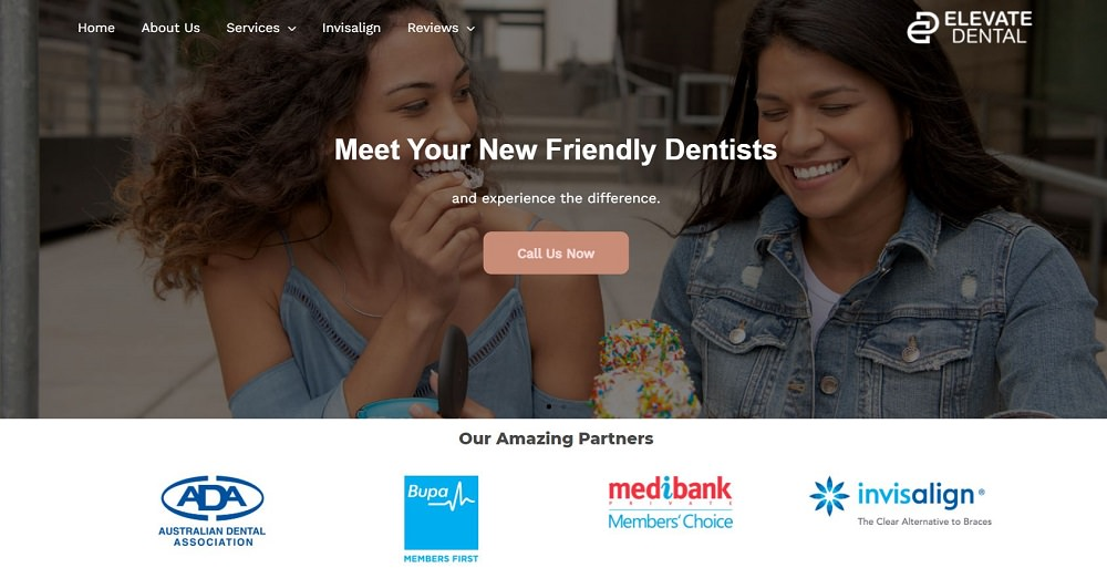 Elevate Dental Blacktown website screenshot