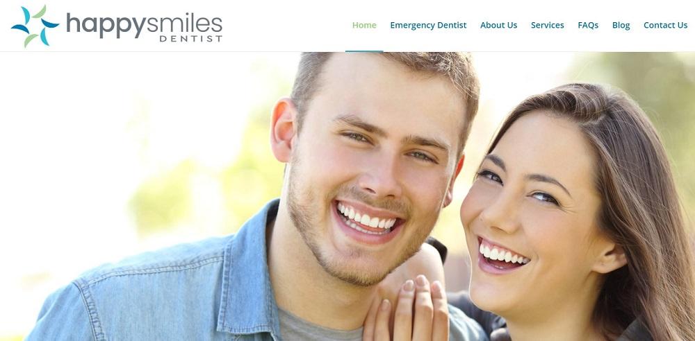 Happy Smiles Dentist Hornsby website screenshot