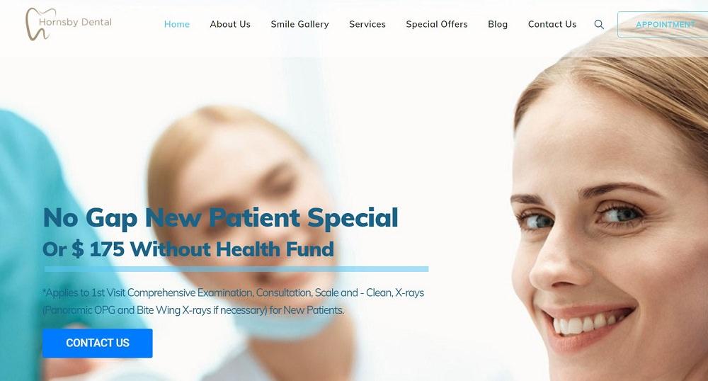 Hornsby Dental website screenshot