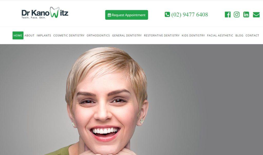 Dr Kanowitz & Associates Dental Surgery – Hornsby Dental screenshot google