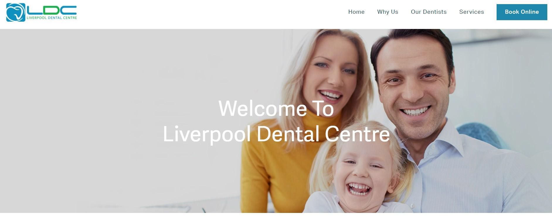 Liverpool Dental Centre screenshot of their website